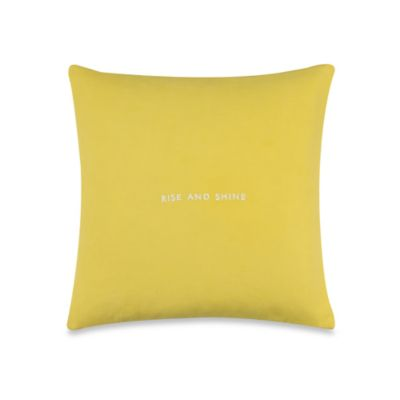 "kate spade new york ""Rise and Shine"" Throw Pillow in Daffodil"