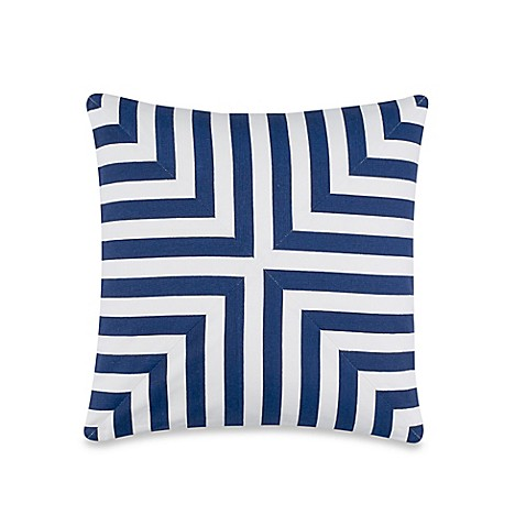 Buy Kate Spade New York Geometric Throw Pillow In Navy