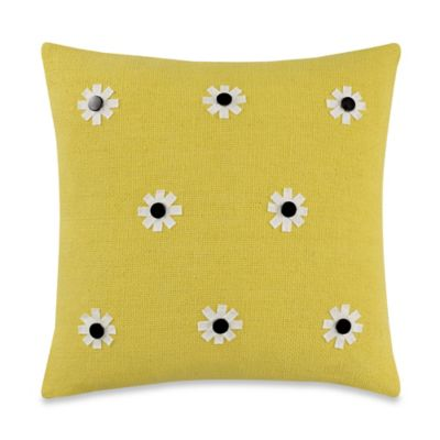 kate spade new york Flower Throw Pillow in Daffodil