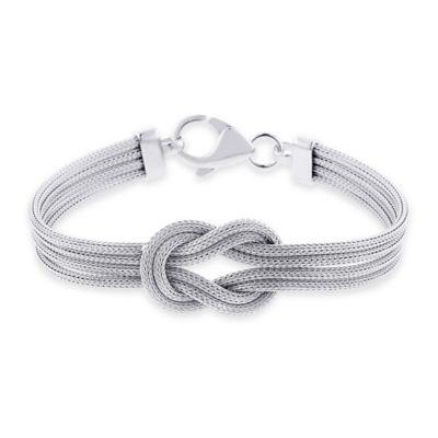 Sterling Silver 7.5-Inch Medium Infinity Knot Mesh Multi-Strand Ladies' Bracelet