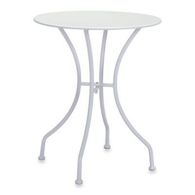 Zuo® Oz Round Outdoor Dining Table in White
