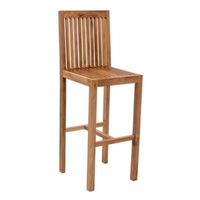 Zuo® Trimaran Outdoor Bar Chair with Natural Finish