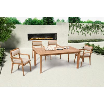 Zuo® Outdoor Nautical Dining Table in Natural Teak