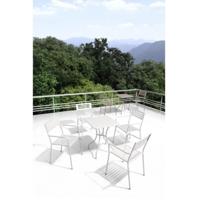 Zuo® Wald Outdoor Dining Armchair in White (Set of 2)
