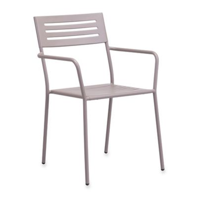 Zuo® Wald Outdoor Dining Armchair in Taupe (Set of 2)