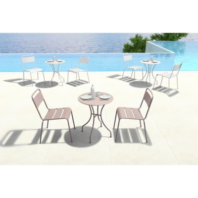 Zuo® Oh Outdoor Dining Chair in Taupe (Set of 2)