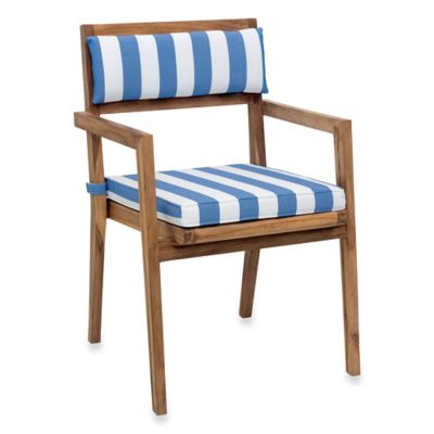 Zuo® Outdoor Nautical Chair Back Cushion in Blue/White (Set of 2)