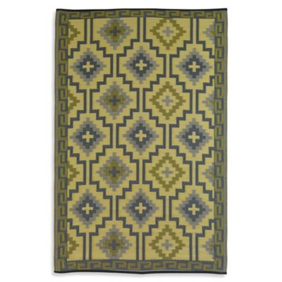 Fab Habitat Lhasa Diamonds Area 6-Foot x 9-Foot Area Rug in Royal Blue/Chocolate Brown