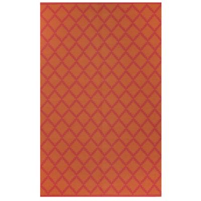 Fab Habitat Marrakesh Diamonds 5-Foot x 8-Foot Area Rug in Orange/Rouge Red