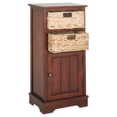Safavieh Connery 2-Wicker-Basket Storage Chest in Cherry