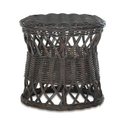 Safavieh Desta Round Wicker Table in Brown