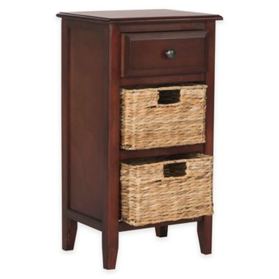 Safavieh Everly Drawer Side Table in Cherry