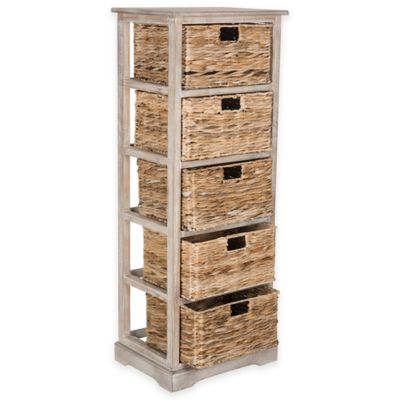 Safavieh Vedette 5-Wicker-Basket Storage Chest in Winter