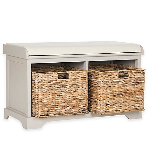 Buy Safavieh Freddy Wicker Storage Bench In Vintage Grey From Bed Bath Beyond
