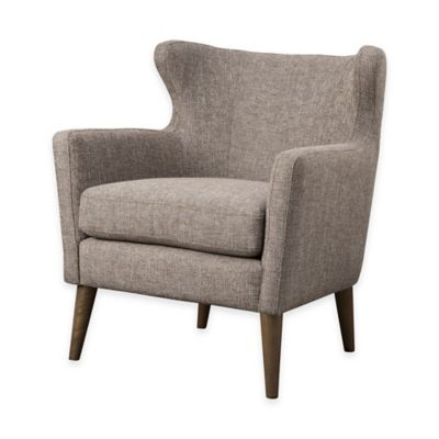 Madison Park Concave Club Chair in Taupe