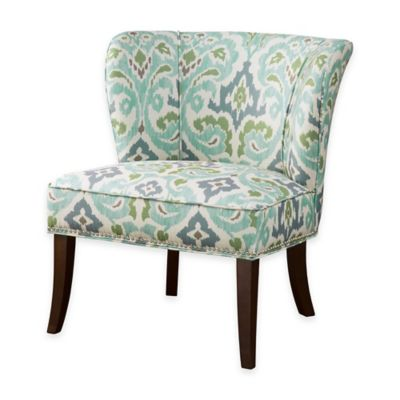 Madison Park Hilton Armless Accent Chair in Blue/Green