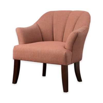 Madison Park Sarah Channel Back Accent Chair in Orange