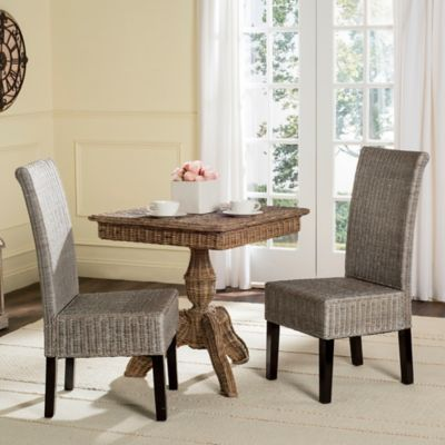Safavieh Arjun Wicker Dining Chairs in Brown Multi (Set of 2)