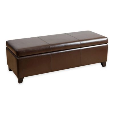 Abbyson Living® Frankfurt Storage Ottoman in Brown