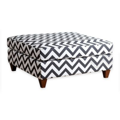 Black Cocktail Ottoman