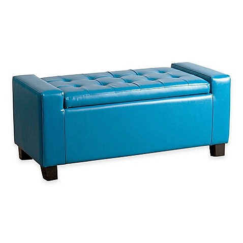 Buy Abbyson Living 174 Sawyer Storage Ottoman In Turquoise