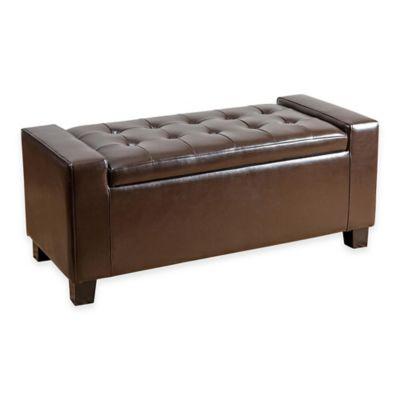 Abbyson Living® Sawyer Storage Ottoman in Brown