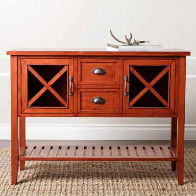 Abbyson Living® Olympic Console in Burgundy Rust