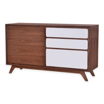 Zuo® Father Buffet in Walnut/White