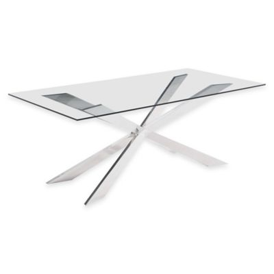 Zuo® Rize Dining Table in Chrome