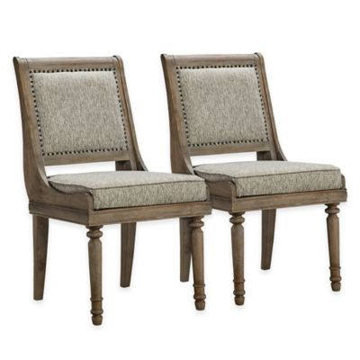 Madison Park Cirque Chairs in Grey (Set of 2)
