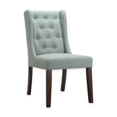 Madison Park Cleo Chair in Slate Blue (Set of 2)