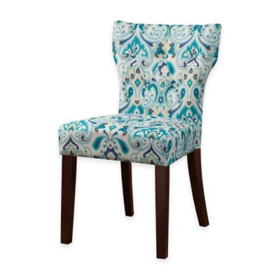Madison Park Avila Tufted Back Dining Chair in Blue/Yellow (Set of 2)