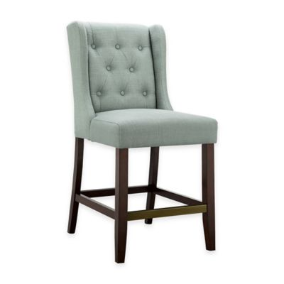Madison Park Cleo Counter Stool in Slate Blue