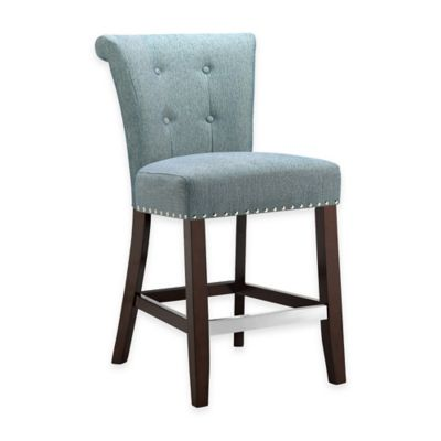 Madison Park Colfax Counter Stool in Blue