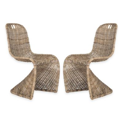 Natural Wicker Dining Chairs
