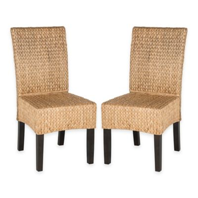 Safavieh Luz Wicker Dining Chairs in Natural (Set of 2)