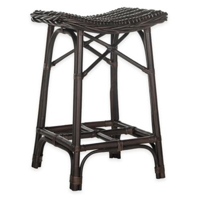 Safavieh Amara Wicker Barstool in Brown