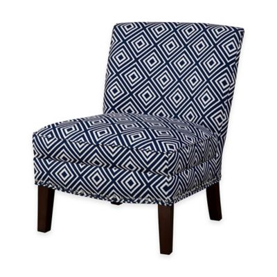 Madison Park Hayden Slipper Accent Chair in Navy