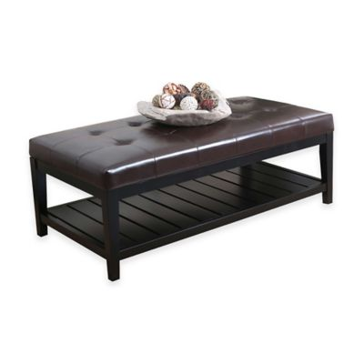 Abbyson Living® Laurel Coffee Table Ottoman in Dark Brown