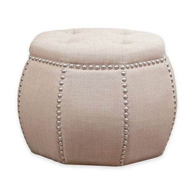 Abbyson Living® Sadie Tufted Ottoman in Beige