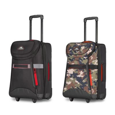 High Sierra 22-Inch Carry On Upright Duffle in Black/Crimson