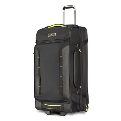 High Sierra® AT8 32-Inch Wheeled Duffle Upright in Black/Lime