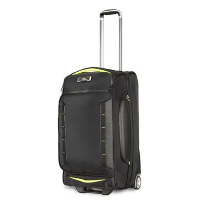 High Sierra® AT8 26-Inch Wheeled Duffle Upright in Black/Lime