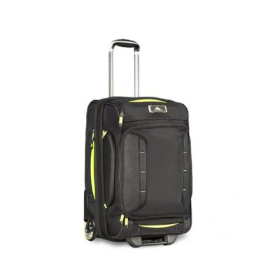 High Sierra® AT8 22-Inch Carry On Wheeled Duffle in Black/Lime