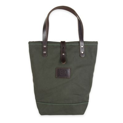 Forest Green Canvas/Brown Leather Totes