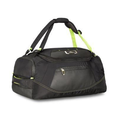 Black Lime Duffle Backpack
