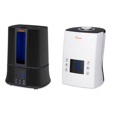 Crane Digital Warm and Cool Mist Humidifier in White