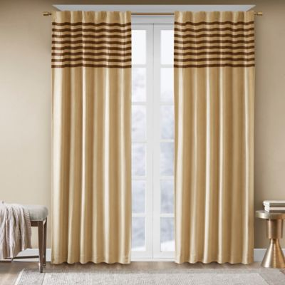 Madison Park Dune 63-Inch Rod Pocket Window Curtain Panel Pair in Grey/Black