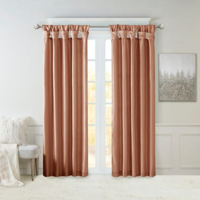 Madison Park Emilia 84-Inch Twist Tab Window Curtain Panel in Taupe