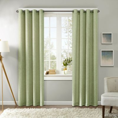 Madison Park Easton 63-Inch Grommet Top Window Curtain Panel in Grey